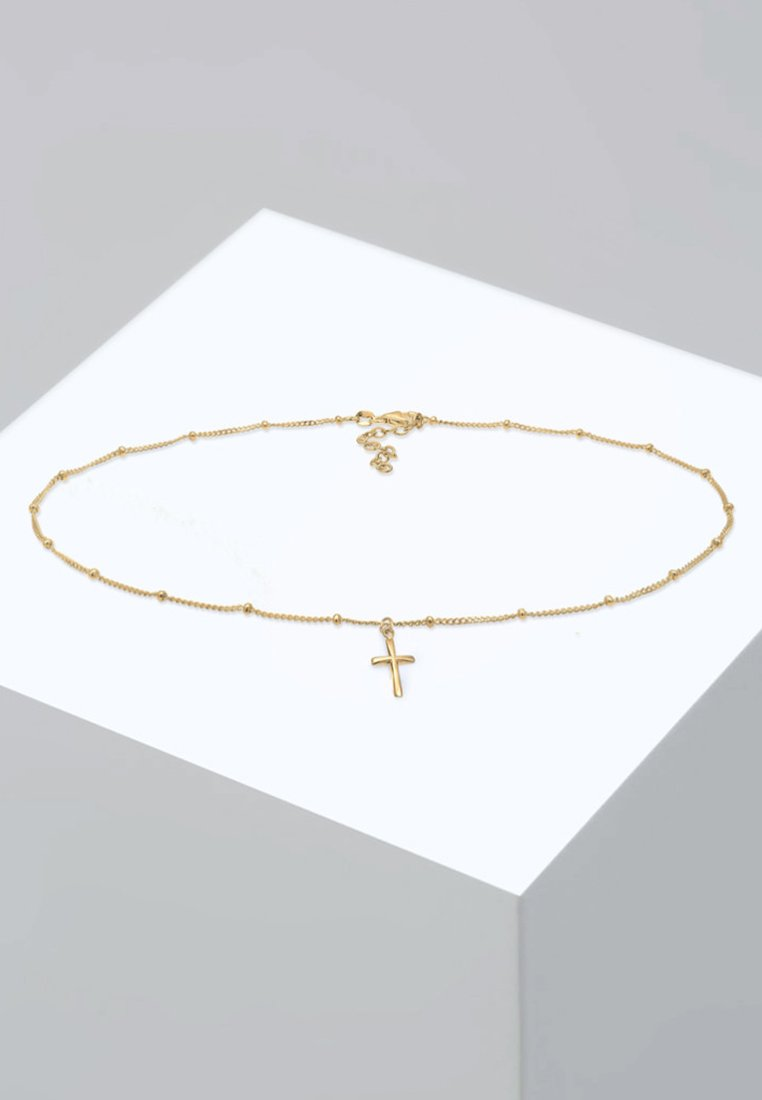 Elli - CHOKER KREUZ BASIC  - Collier - gold-coloured