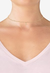 Elli - CHOKER KREUZ BASIC  - Collier - gold-coloured - 1