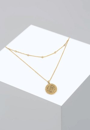 MÜNZE PLÄTTCHEN LAYERING - Ketting - gold-coloured