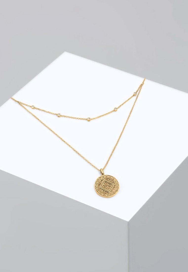 Elli - MÜNZE PLÄTTCHEN LAYERING - Collier - gold-coloured