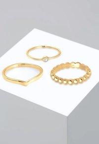 Elli - 3ER SOLITÄR - Ring - gold-coloured - 0