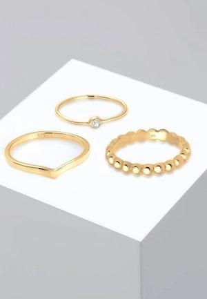 3ER SOLITÄR - Ring - gold-coloured