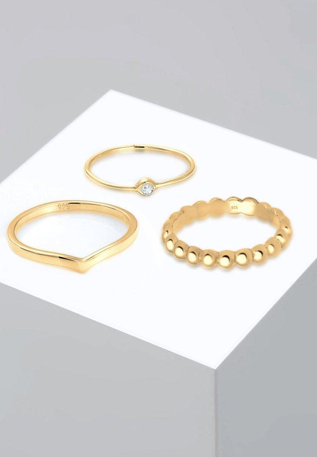 3ER SOLITÄR - Sormus - gold-coloured