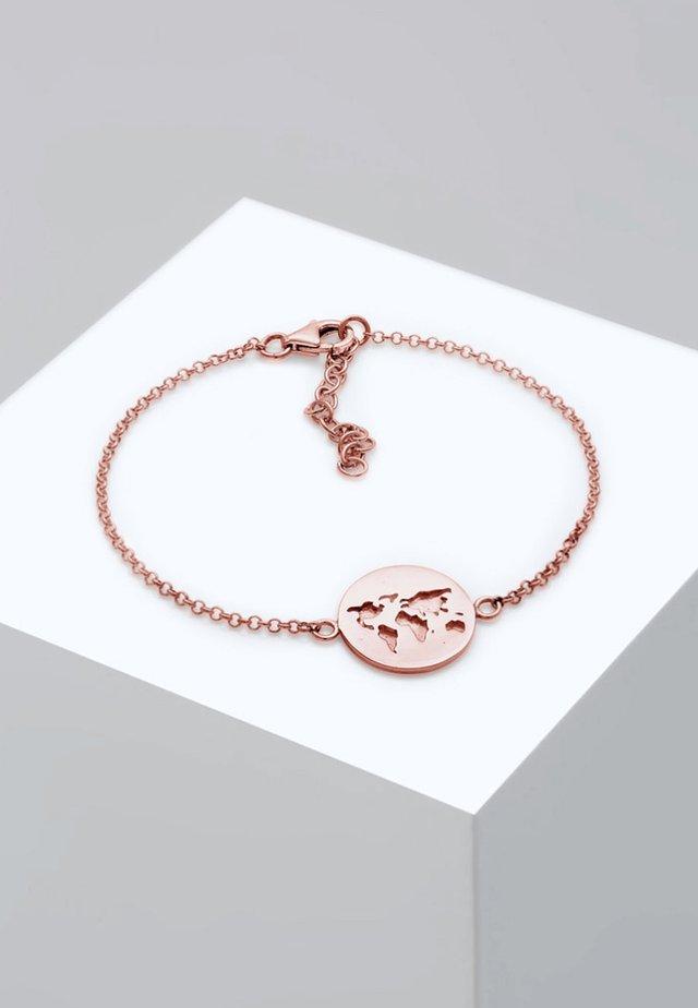 WELTKUGEL  - Armband - rose gold-coloured