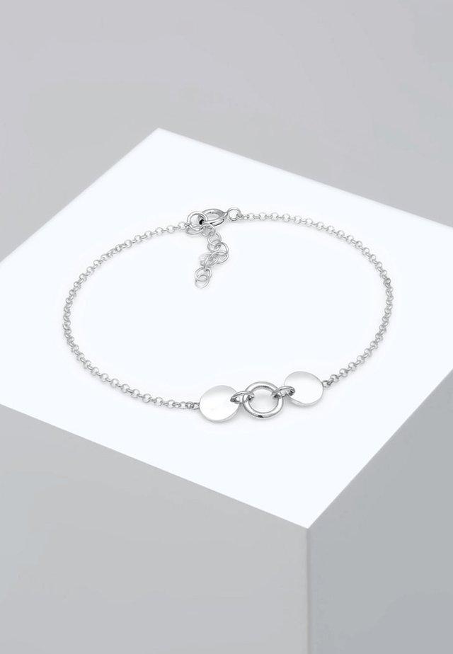 ERBSKETTE KREIS PLÄTTCHEN - Rannekoru - silver-coloured