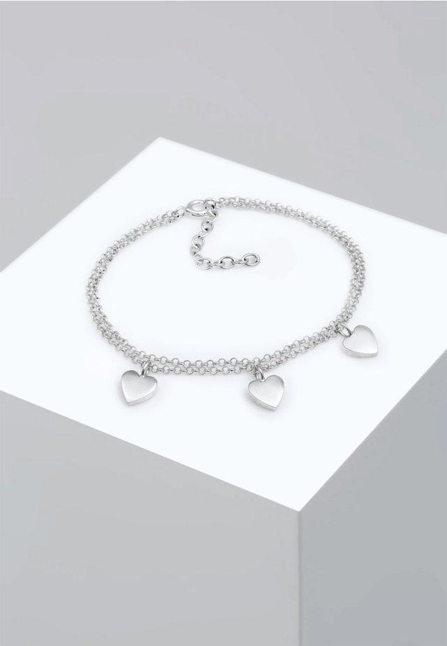 HERZ SYMBOL LOVE TRIO LAYER - Armband - silver-coloured