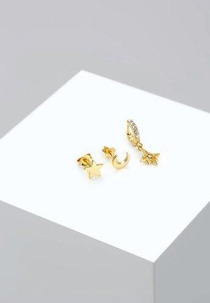 3 PACK - Boucles d'oreilles - gold-coloured