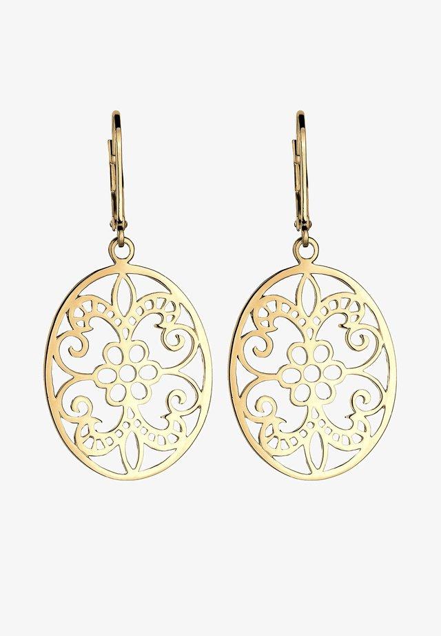 ORNAMENT FLORAL - Ohrringe - gold-coloured