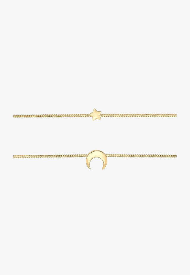 LAYER CHOKER ASTRO HALBMOND STERNE  - Collana - gold-coloured