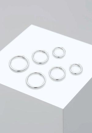 3 PACK - Oorbellen - silver-coloured