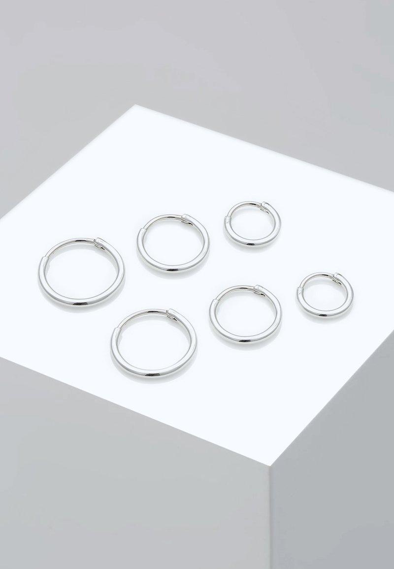 Elli - 3 PACK - Earrings - silver-coloured