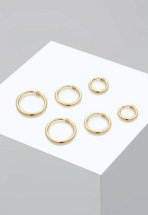 3 PACK - Øreringe - gold-coloured