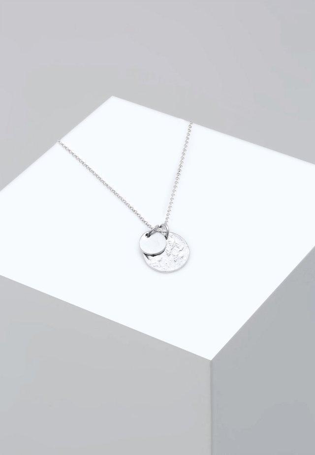 PLÄTTCHEN GEO - Necklace - silver-coloured