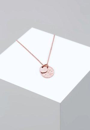 PLÄTTCHEN GEO - Necklace - rose gold-coloured