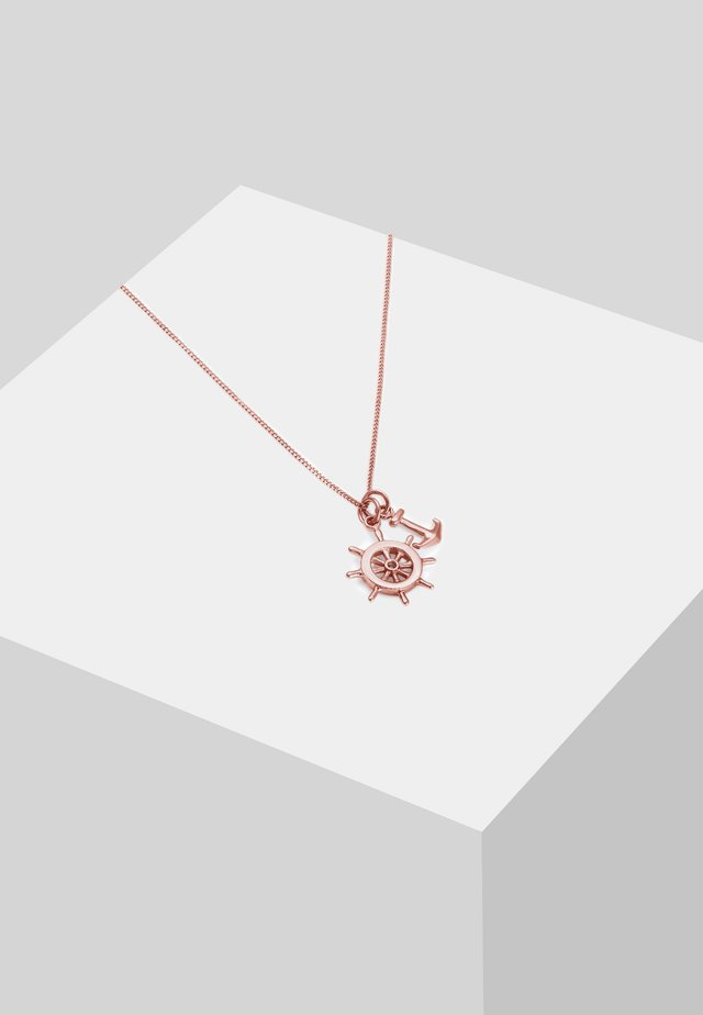 STEUERRAD ANKER  - Necklace - rose gold-coloured