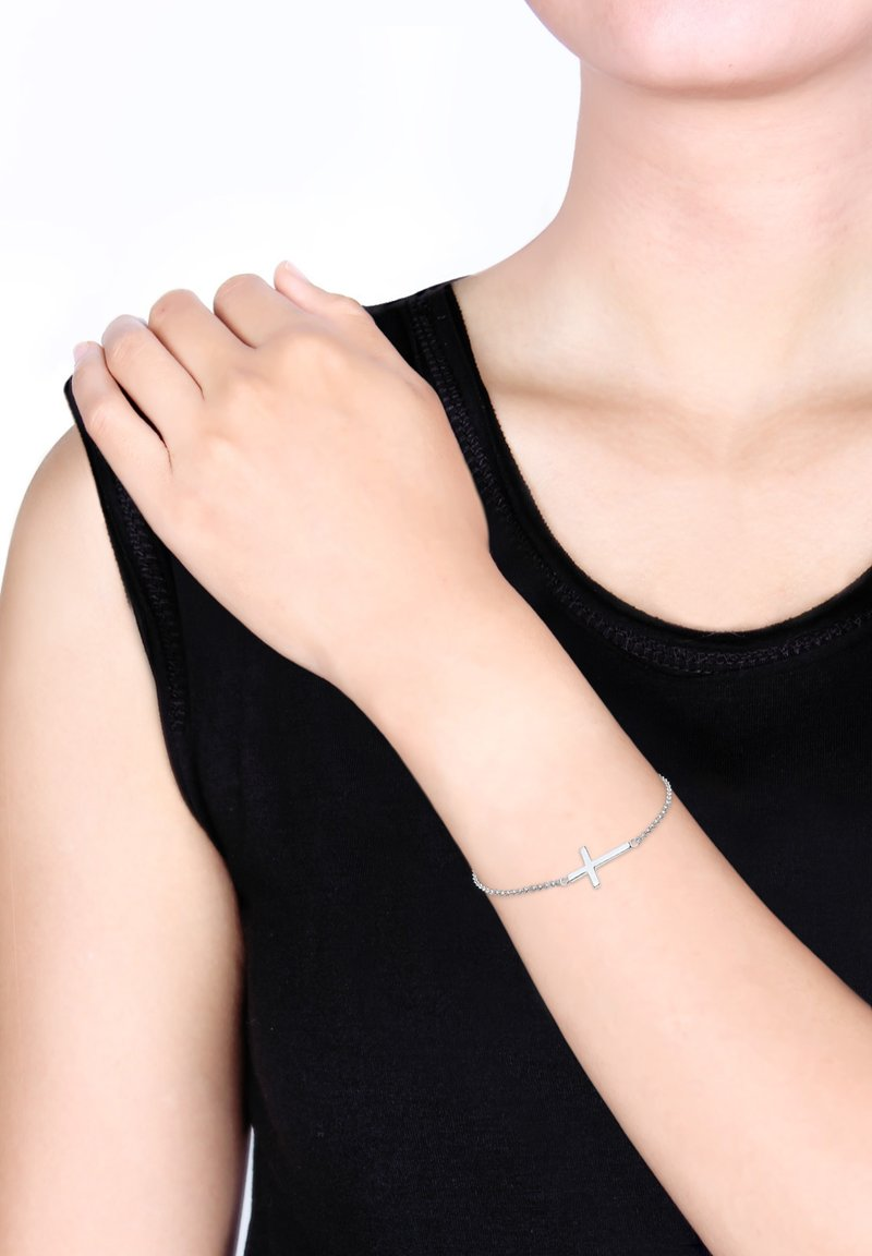 Elli - KREUZ - Armband - silver-coloured