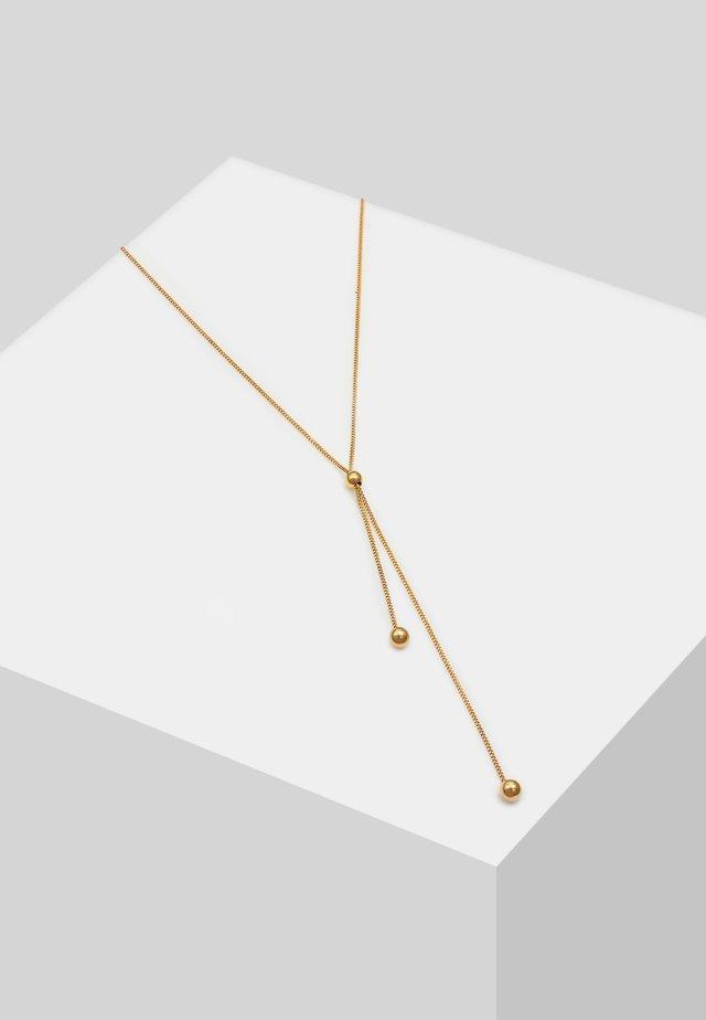 Y-KETTE KUGEL BALL  - Halskette - gold-coloured