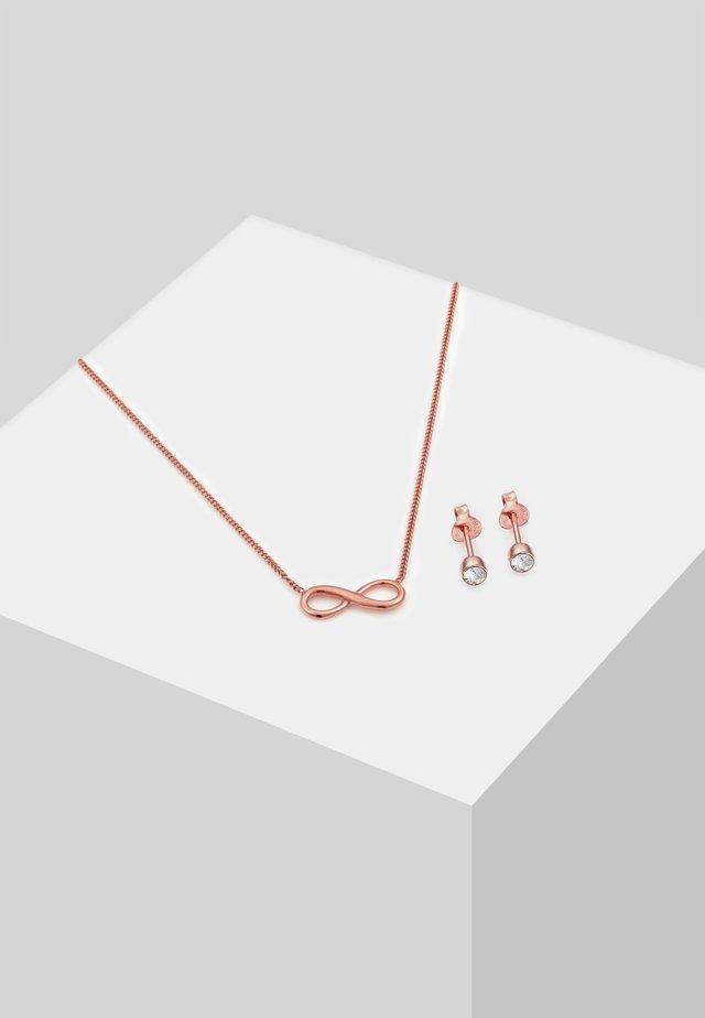 SET - Boucles d'oreilles - rose gold-coloured