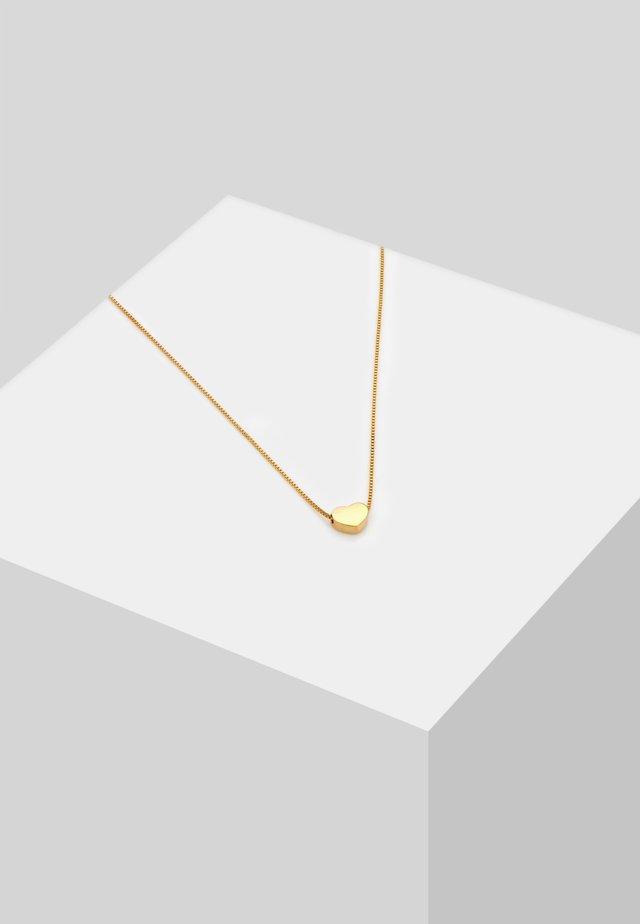 HERZ SCHLICHT SYMBOL LIEBE VENEZIANER - Halskette - gold-coloured