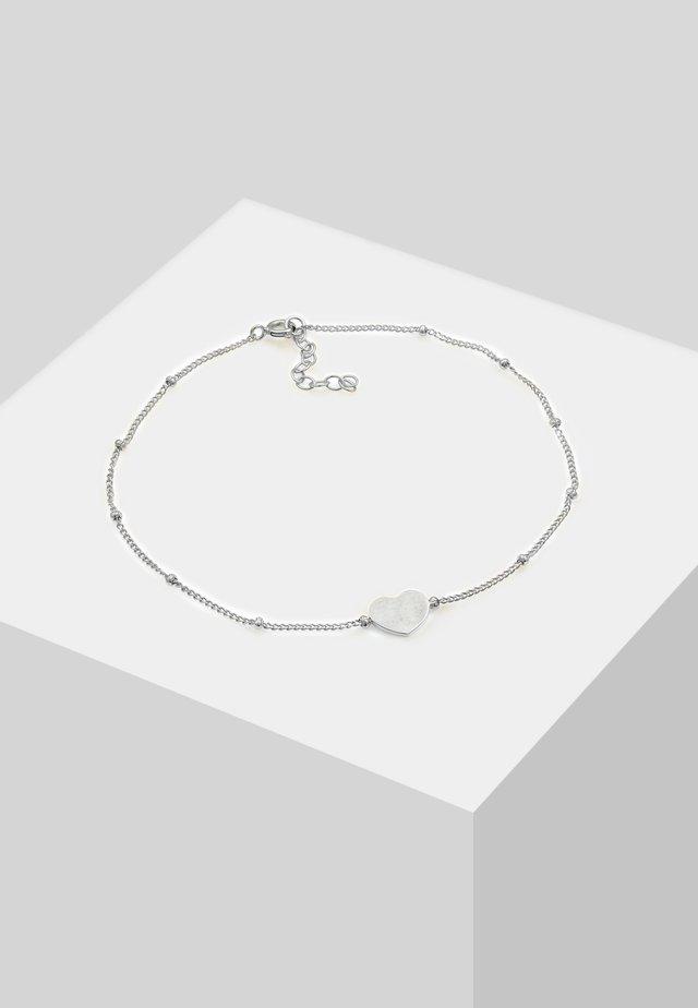FUSSSCHMUCK HERZCHEN - Armband - silver-coloured