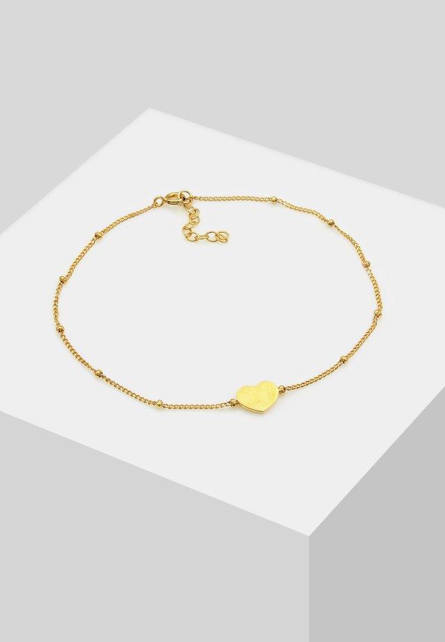 FUSSSCHMUCK HERZCHEN - Bracciale - gold-coloured