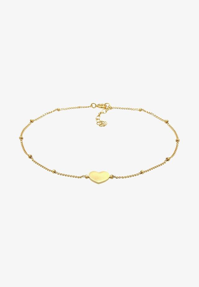 FUSSSCHMUCK HERZCHEN - Armband - gold-coloured