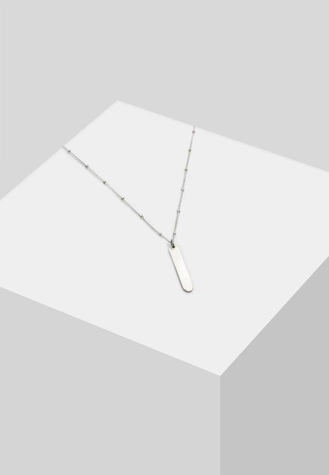 KUGELKETTE GLÄNZENDER LABEL  - Halskæder - silver-coloured