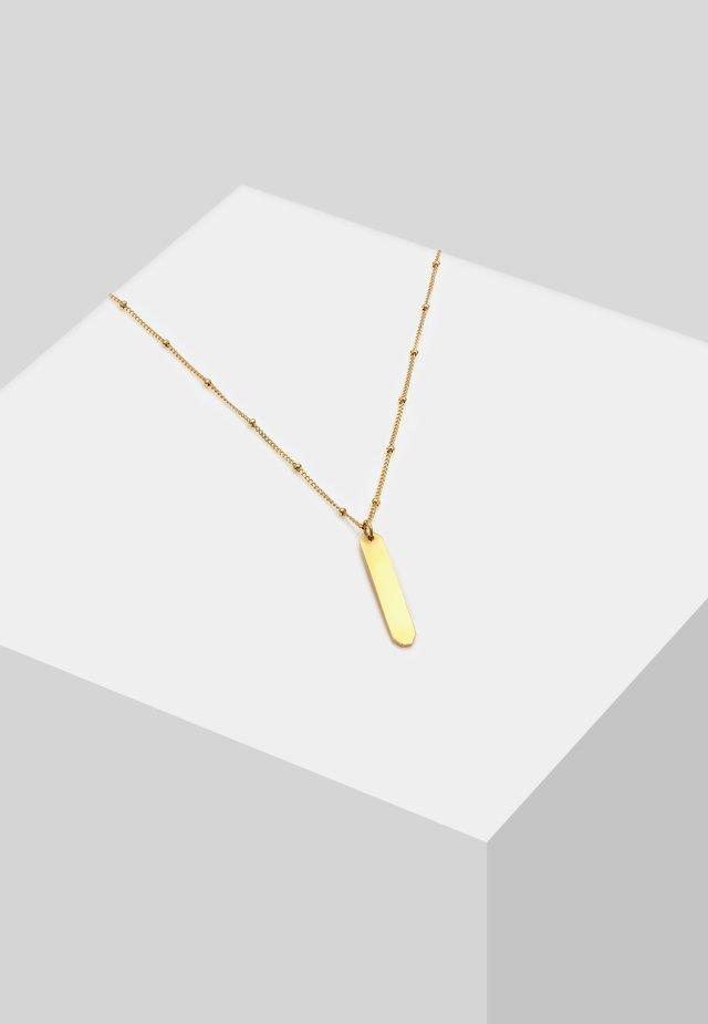 KUGELKETTE GLÄNZENDER LABEL  - Halskæder - gold-coloured