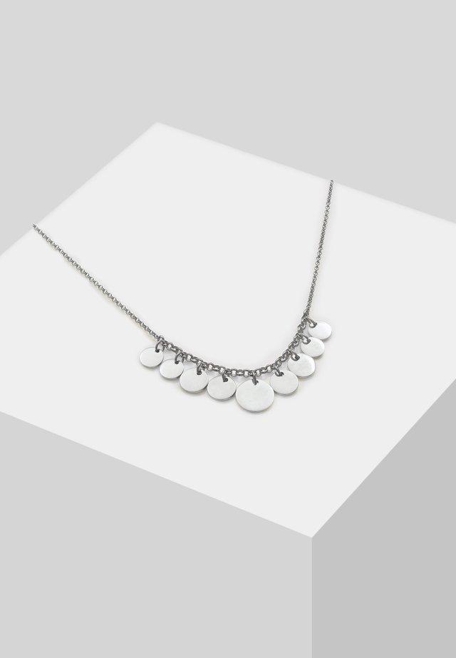 GEO LOOK PLÄTTCHEN - Halskette - silver-coloured