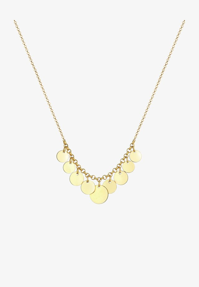 GEO LOOK PLÄTTCHEN - Halskette - gold-coloured