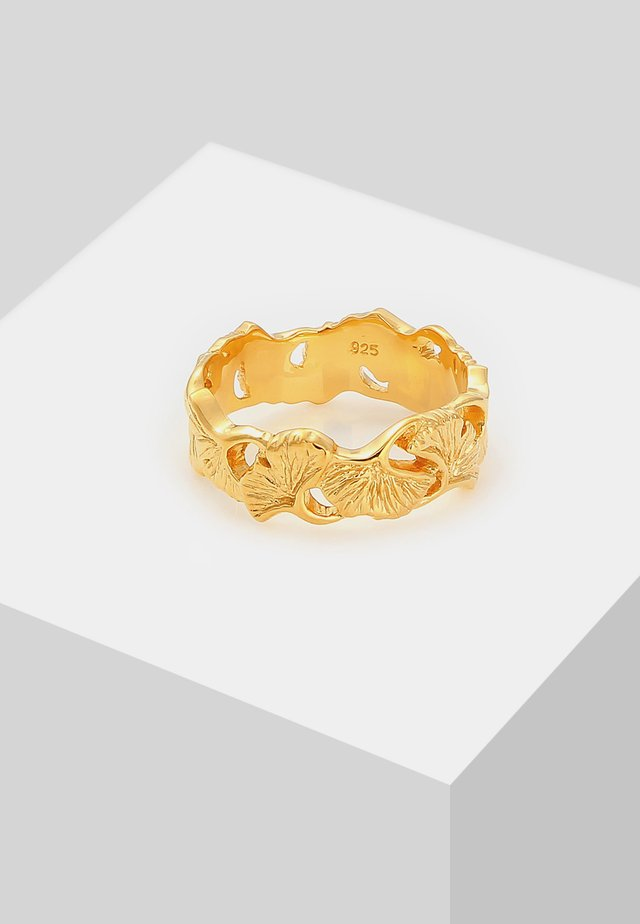 GINGKO BLATT TROPIC  - Ringe - gold-coloured