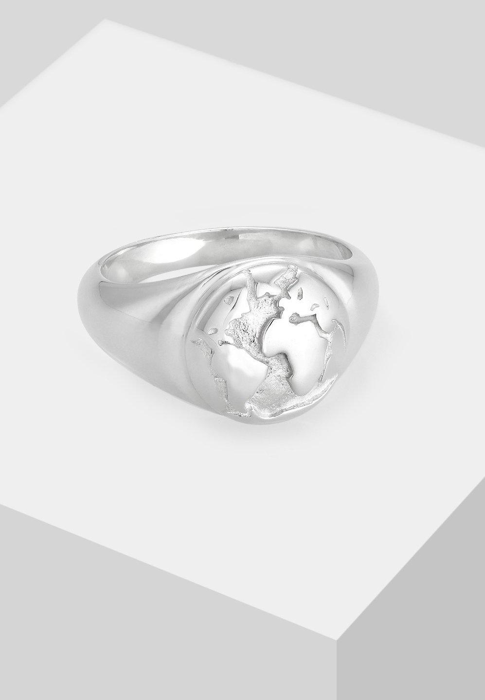 Elli GLOBUS WELT REISEN TREND - Ringar - silver-coloured