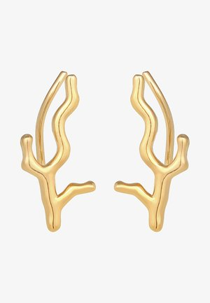 Earrings - gold coloured