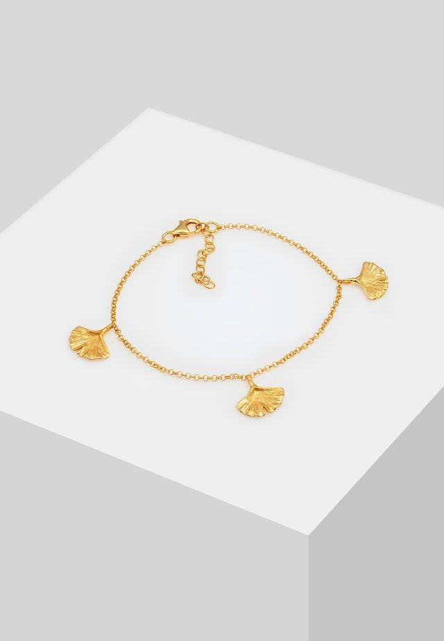 GINKGO BLATT SYMBOL - Bransoletka - gold-coloured