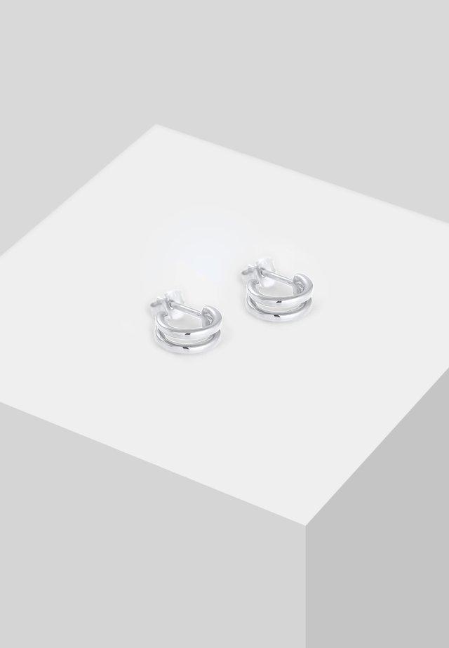 MINI CREOLEN  - Øreringe - silver-coloured