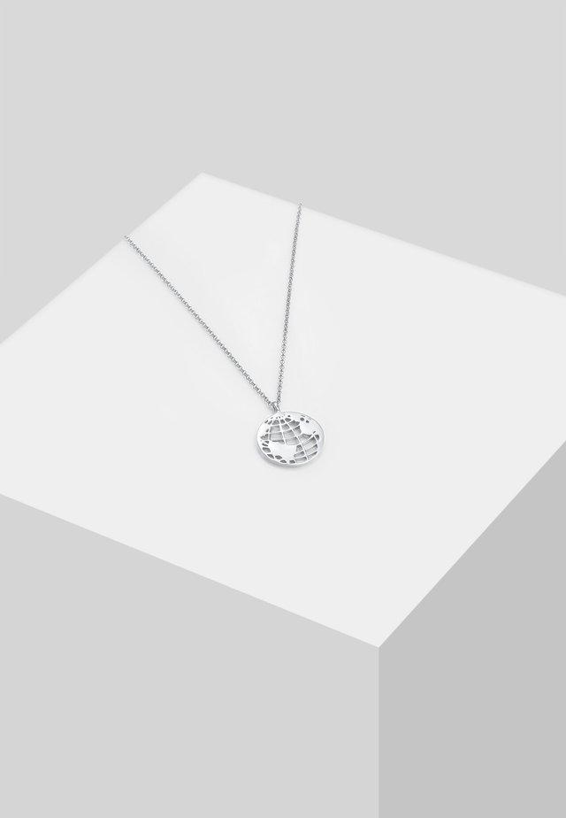 WELTKUGEL  - Necklace - silver-coloured