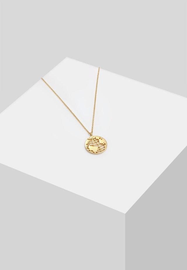 WELTKUGEL  - Halskette - gold-coloured