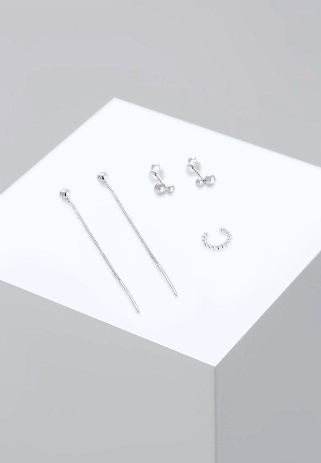 3 SET - Øreringe - silver-coloured