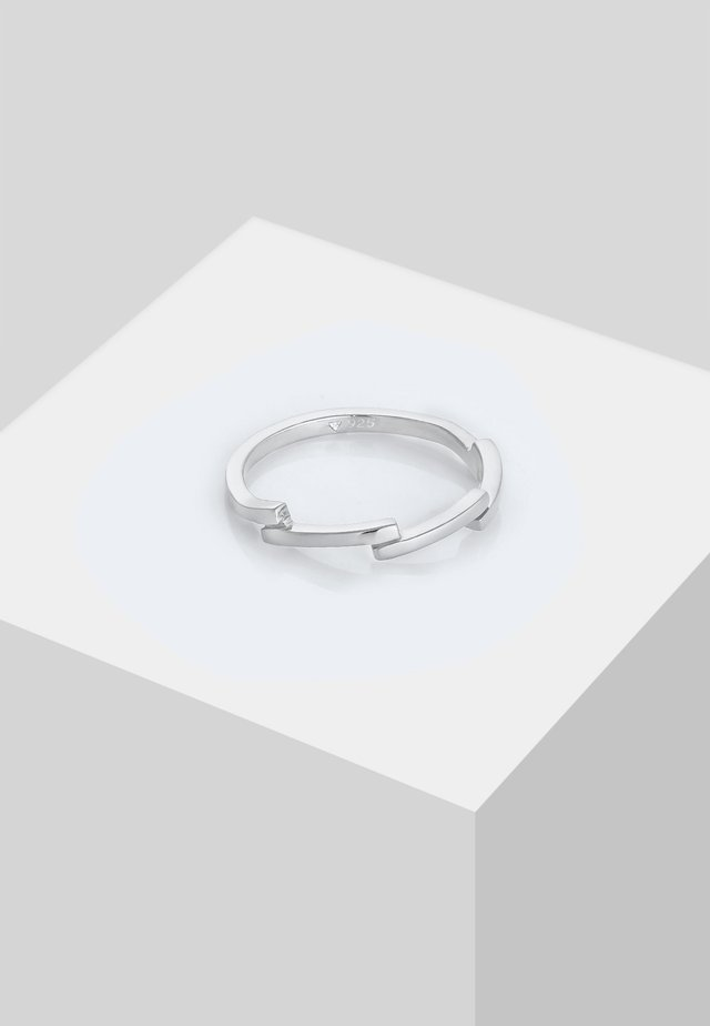 ZICK ZACK  - Ring - silver colored