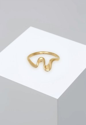 RING WELLEN WAVE STRAND MARITIM  - Ringe - gold