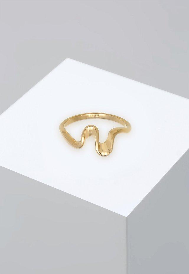 RING WELLEN WAVE STRAND MARITIM  - Ringe - gold