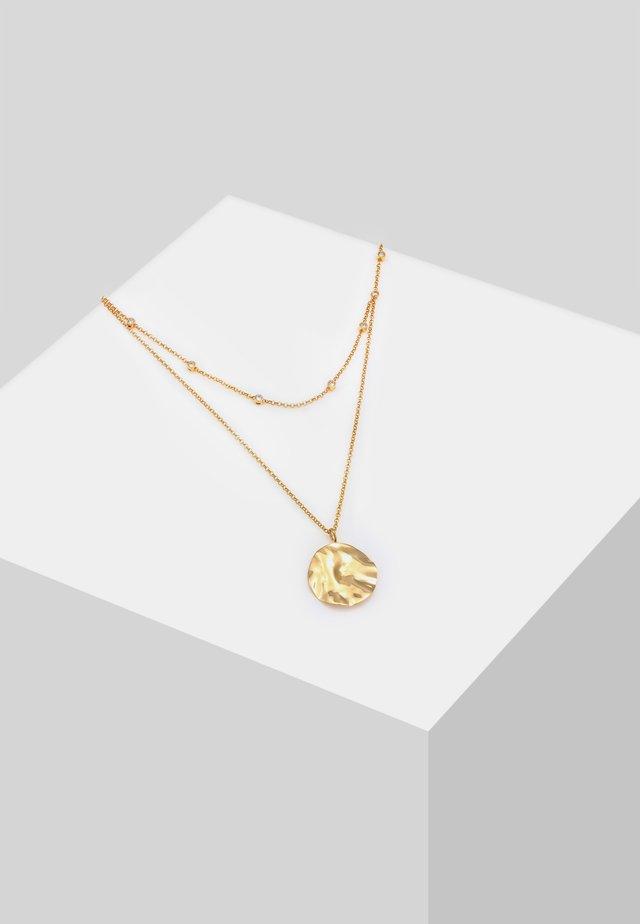 PLÄTTCHEN LAYER  - Halskette - gold
