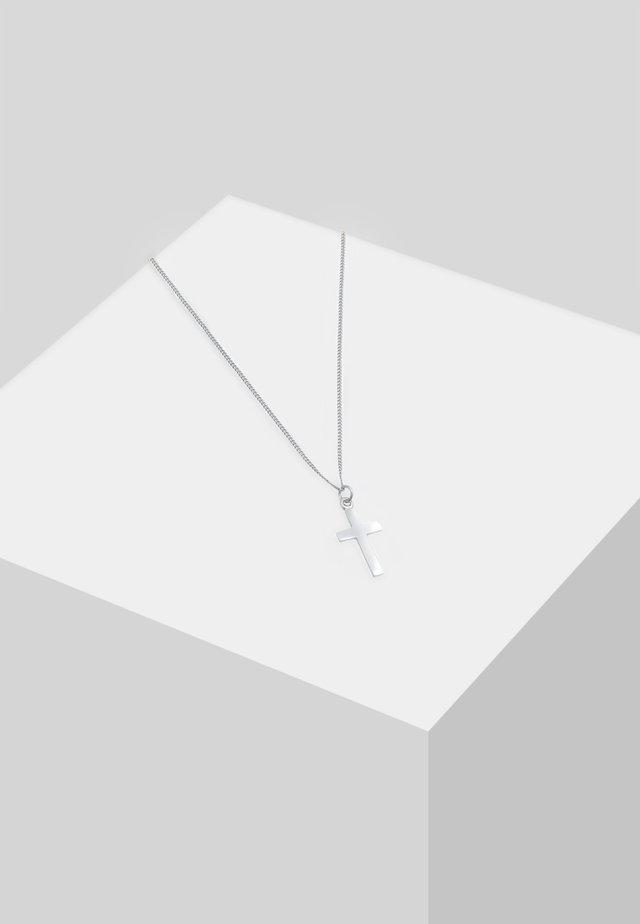 KREUZ - Halsband - silber