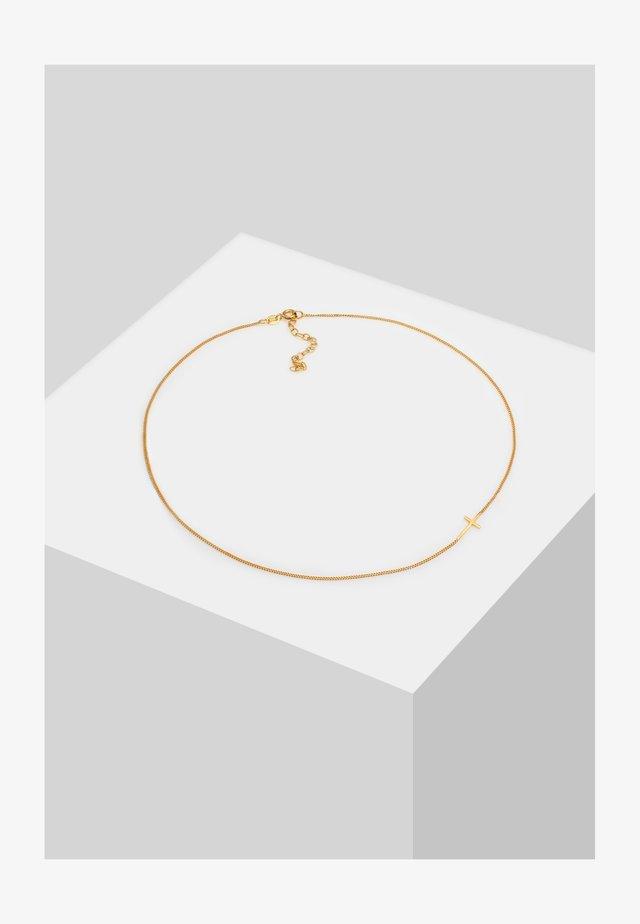 CHOKER KREUZ - Necklace - gold