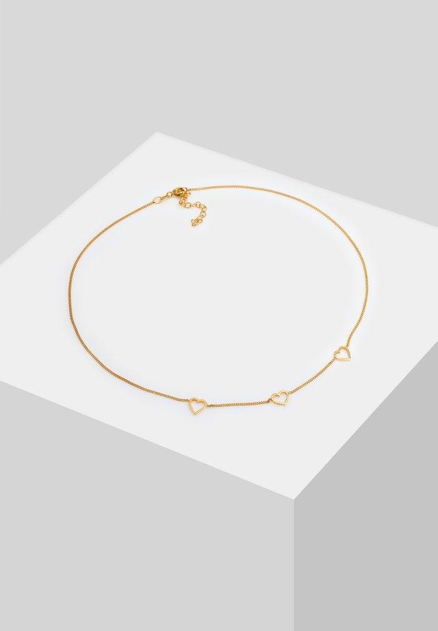 CHOKER HERZ CUT OUT LIEBE ROMANTIK  - Necklace - gold