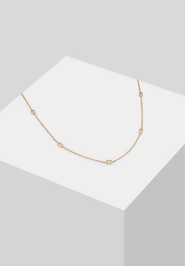RECHTECKIGE ZIRKONIA - Necklace - gold
