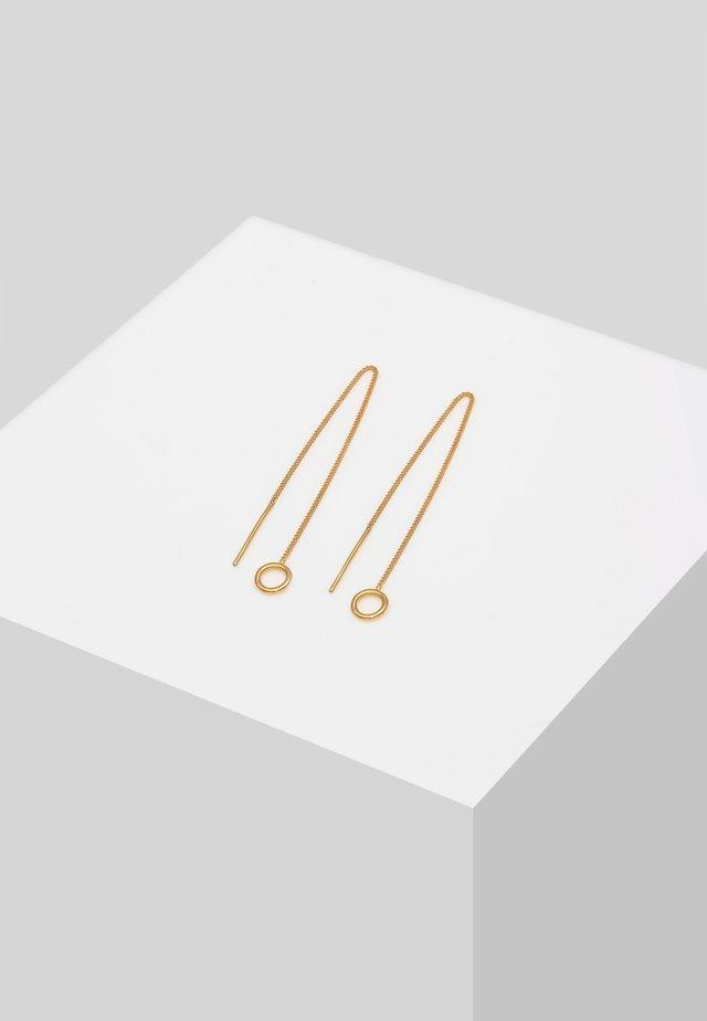 GEO DESIGN - Øreringe - gold