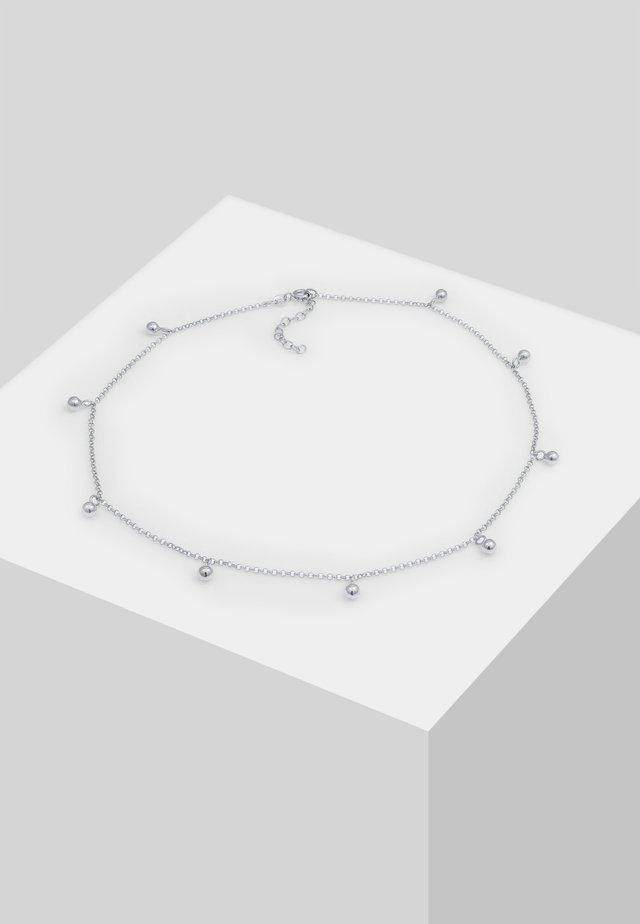 CHOKER ERBSKETTE KUGEL-ANHÄNGER  - Halsband - silber