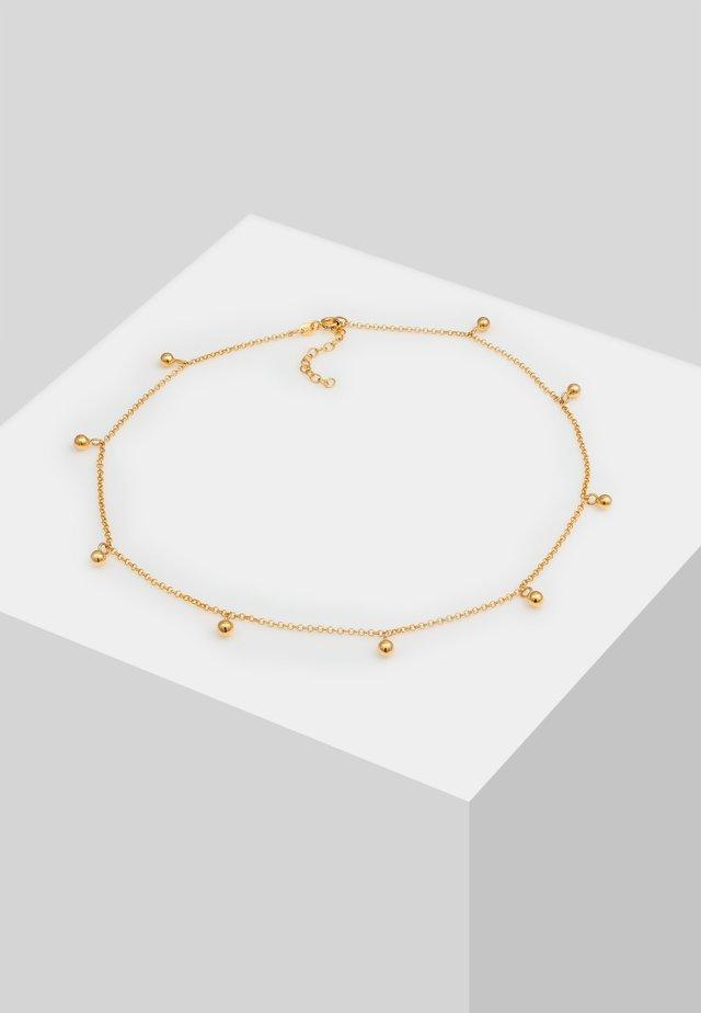CHOKER ERBSKETTE KUGEL-ANHÄNGER  - Necklace - gold