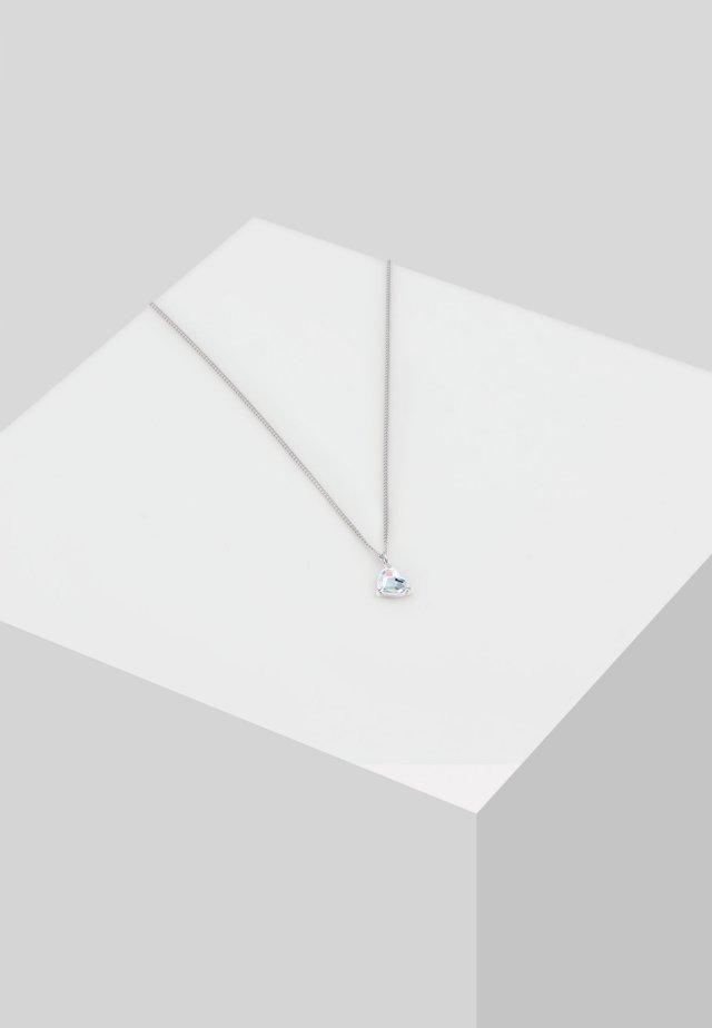 HERZ SWAROVSKI® KRISTALLE LIEBE HEART  - Halskette - silber